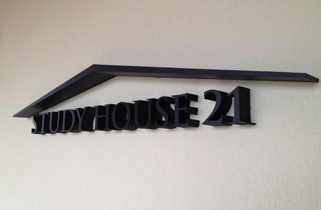 東野高等学校 Study House 21 棟名サイン